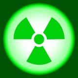 Sinal nuclear, átomo calmo Fotos de Stock Royalty Free