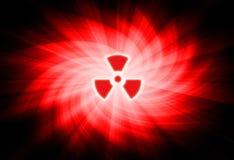 Sinal nuclear Foto de Stock