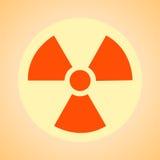 Sinal nuclear que representa o perigo da radiação Fotografia de Stock Royalty Free