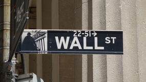 Sinal Nyc de Wall Street fotografia de stock royalty free