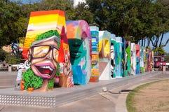 Sinal olímpico colorido da cidade Imagens de Stock Royalty Free