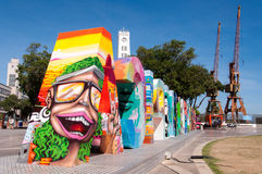 Sinal olímpico colorido da cidade Imagem de Stock