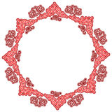 Sinal ornamentado redondo do teste padrão Fotografia de Stock Royalty Free
