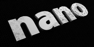 Sinal ou logotipo Nano da tecnologia lettering Imagens de Stock Royalty Free
