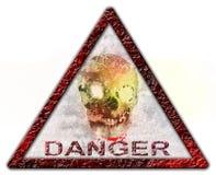 Sinal ou símbolo do crânio do perigo Fotografia de Stock Royalty Free