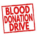 Sinal ou selo da movimentação da doação de sangue ilustração royalty free