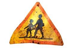 Sinal oxidado da escola Ilustração Royalty Free