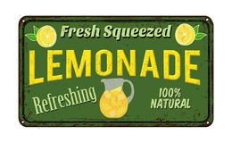 Sinal oxidado do metal do vintage da limonada