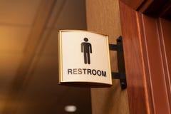 Sinal público do toalete dos homens Foto de Stock Royalty Free