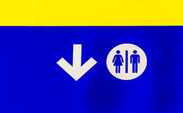 Sinal público dos banheiros imagens de stock royalty free