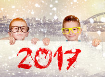 Sinal para 2017 Foto de Stock Royalty Free