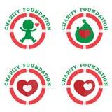Sinal para a fundação da caridade Imagem de Stock