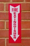 Sinal para o extintor de incêndio imagens de stock