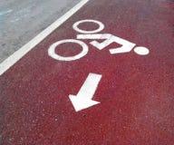 Sinal para uma bicicleta foto de stock royalty free