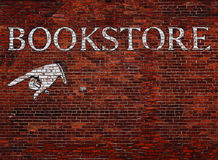 Sinal para uma livraria imagem de stock