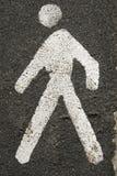 Sinal pedestre Imagem de Stock
