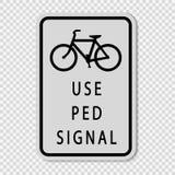 sinal pedestre do sinal do sinal do uso do símbolo no fundo transparente ilustração stock