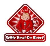 Sinal pequeno do diabo a bordo Fotografia de Stock Royalty Free