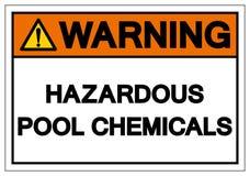 Sinal perigoso de advert?ncia do s?mbolo de produtos qu?micos da associa??o, ilustra??o do vetor, isolado na etiqueta branca do f ilustração do vetor