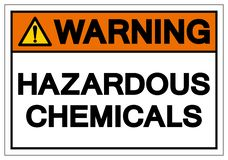 Sinal perigoso de advert?ncia do s?mbolo de produtos qu?micos, ilustra??o do vetor, isolado na etiqueta branca do fundo EPS10 ilustração do vetor