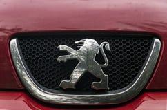 Sinal Peugeot do carro Imagem de Stock