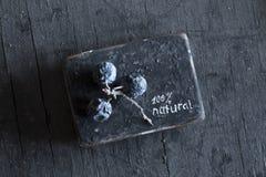 Sinal 100 por cento natural Foto de Stock Royalty Free