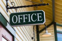 Sinal preto do escritório Imagem de Stock Royalty Free