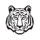 Sinal principal da silhueta do tigre Arte principal da tatuagem do tigre ilustração do vetor