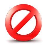 sinal proibido 3d Imagens de Stock Royalty Free