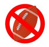 Sinal proibido da bola de rugby Imagens de Stock Royalty Free