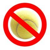 Sinal proibido da bola de tênis Imagens de Stock Royalty Free