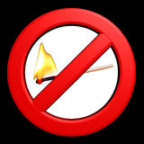 Sinal proibido da flama Fotografia de Stock Royalty Free