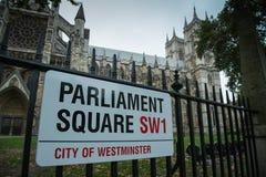 Sinal quadrado do parlamento imagem de stock