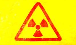 Sinal radioativo fotografia de stock
