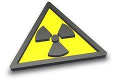 Sinal radioativo da radiação ilustração stock