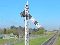 Sinal Railway Imagem de Stock Royalty Free