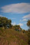 Sinal Railway vermelho Foto de Stock Royalty Free