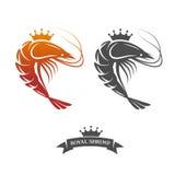 Sinal real do camarão ilustração royalty free