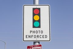Sinal reforçado foto do sinal Fotos de Stock Royalty Free