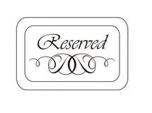 Sinal Reserved Imagem de Stock Royalty Free