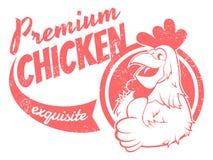 Sinal retro da galinha Foto de Stock