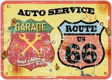 Sinal retro da garagem ilustração do vetor
