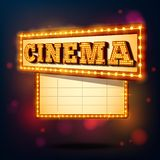 Sinal retro do cinema Fotografia de Stock Royalty Free