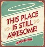 Sinal retro do metal ou fundo do cartaz Imagem de Stock Royalty Free