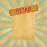 Sinal retro no fundo azul do vintage Imagens de Stock Royalty Free