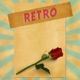 Sinal retro no fundo azul do vintage Imagem de Stock