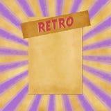 Sinal retro no fundo roxo do vintage Fotos de Stock