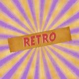 Sinal retro no fundo roxo do vintage Foto de Stock Royalty Free