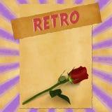 Sinal retro no fundo roxo do vintage Imagem de Stock Royalty Free
