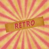 Sinal retro no fundo vermelho do vintage Imagem de Stock